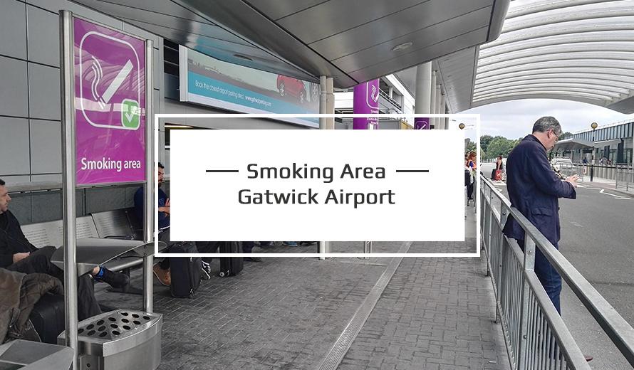 Smoking area at Gatwick Airport