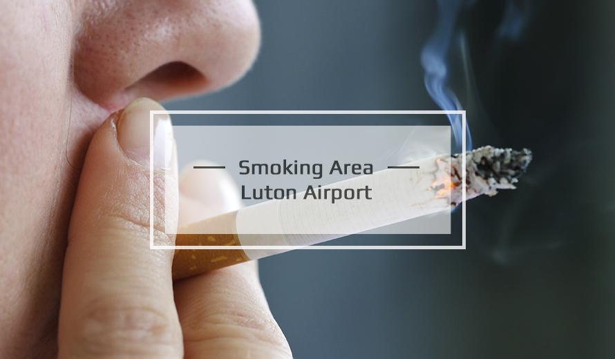 Luton Airport Smoking area