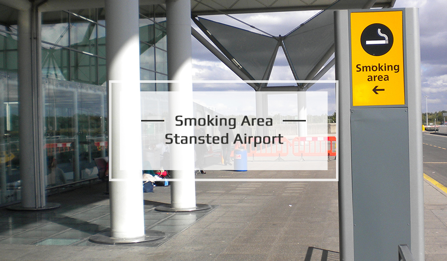 Smoking Area At Stansted airport
