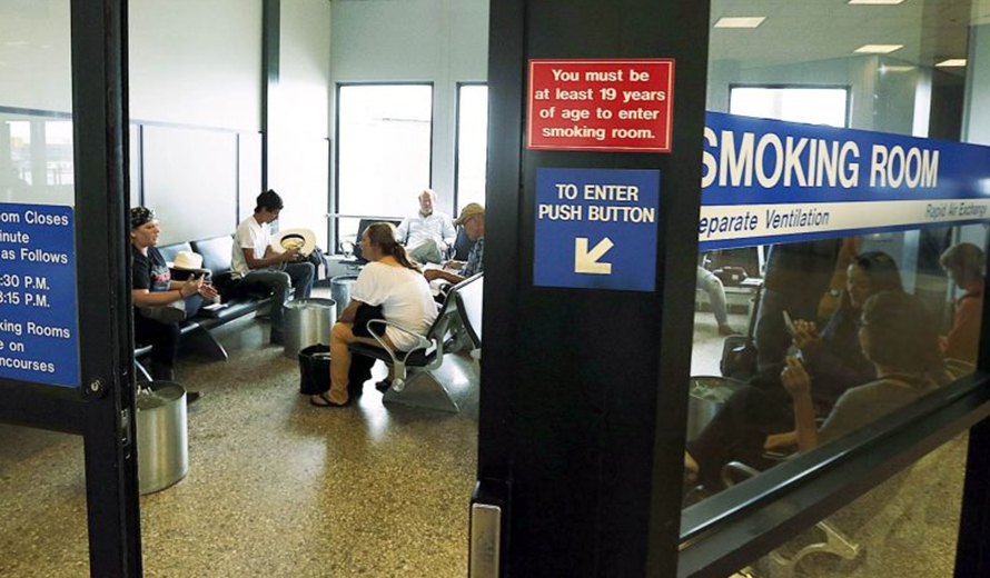 Stringent regulations regarding the smoking area at the Gatwick Airport